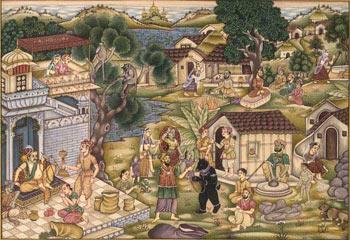 Indian Village Paintingindian Paper Paintingsindian Sand Painting